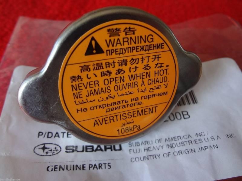 Subaru Replacement Key >> Subaru OEM Radiator Cap Forester Impreza Outback Legacy Baja