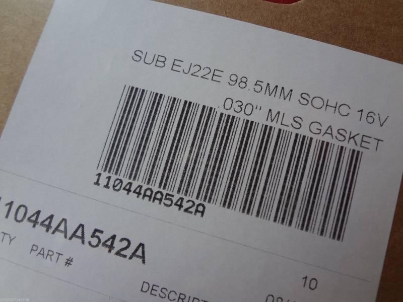 Six Star MLS Head Gasket Kit Subaru 2 2 SOHC Legacy Impreza