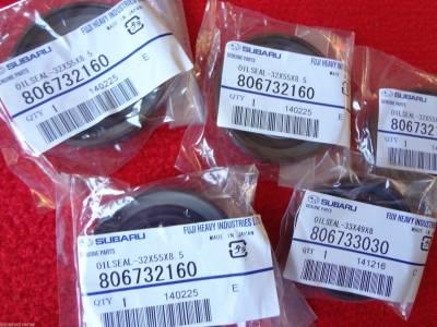 OEM Subaru - Subaru OEM Front Oil Seals Kit Impreza WRX EJ205 2000-2005