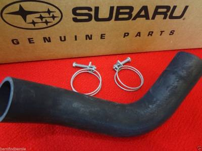 OEM Subaru - Subaru OEM Lower Bottom Radiator Hose & 2 Clamps Kit Outback Legacy H4 2005-2009
