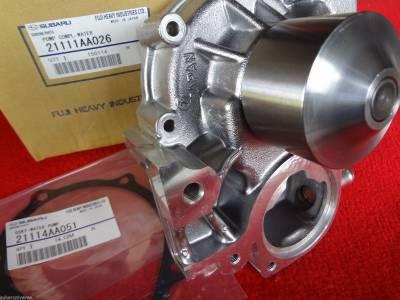 OEM Subaru - Subaru OEM Water Pump Kit Impreza WRX STI EJ205 EJ207 EJ255 EJ257 Turbo 3 Pipe