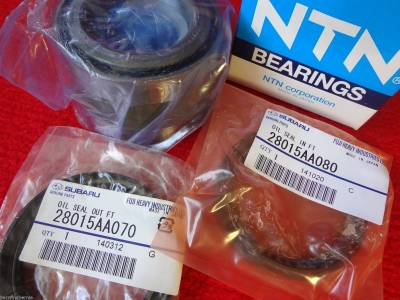 OEM Subaru - 72mm Rear Axle Wheel Bearing and Seal Kit for Subaru Impreza STi 1993-2007 / SVX 1992-1997 OEM + FREE Axle Nut