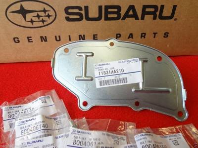 Timing Belts + More - Oil Separator Upgrade Kit - OEM Subaru - Subaru Oil Separator + 6 Lock Bolts Forester WRX Impreza STi  Outback Legacy OEM