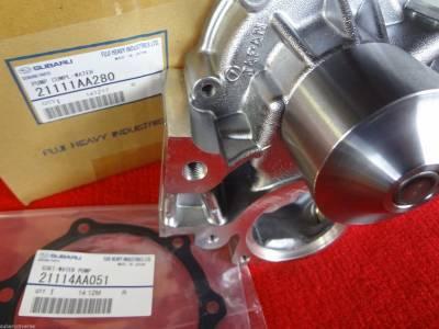 Cooling System - OEM Water Pump Kits - OEM Subaru - Subaru OEM Water Pump & Gasket Kit Impreza Forester Outback Legacy 2006-12
