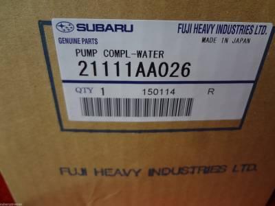 OEM Subaru - Subaru OEM Water Pump Kit Impreza WRX STI EJ205 EJ207 EJ255 EJ257 Turbo 3 Pipe - Image 4