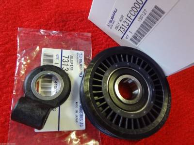 Drive Belts A/C & P/S - A/C Pulley Adjuster Parts - OEM Subaru - Subaru OEM A/C Pulley Belt Adjuster Kit WRX Impreza Legacy Forester Outback