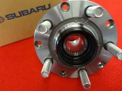 Axle Bearings + More   - Axle Bearings & Hub Units - OEM Subaru - Front Wheel Axle Hub NO BEARING Subaru Impreza + WRX 93-07 / Forester 98-08 / Outback + Legacy 90-04 / Baja 03-06 OEM